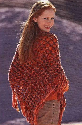 крючок вязание схемы шали