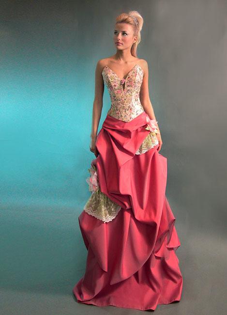 короткие платья с пышной юбкой с коротким рукавом