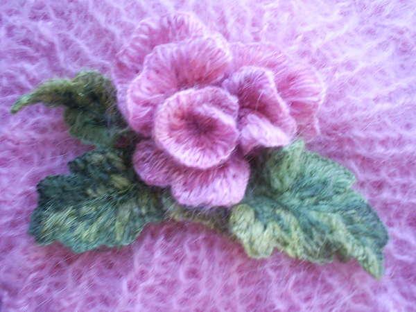 Схемы вышивки на вязаном