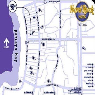 Карта положения гостиницы Pattaya тяжелого рока.